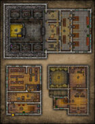 VTT Map Set - #081 Bank, General Store & Sheriff's Office with Jail and Gallows