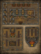 VTT Map Set - #092 City Infirmary, Pawn Shop & Potter's Shop and Kiln