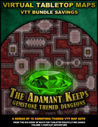 VTT Bundle: The Adamant Keeps - Gemstone Themed Dungeons [BUNDLE]