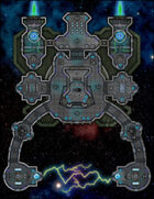VTT Map Set - #256 Starship Deckplan: Utility Starship: Electromagnetic Salvage Hauler