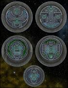 VTT Map Set - #258 Starship Deckplan: Saucer Ships