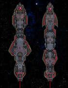 VTT Map Set - #320 Starship Deckplan: Laser-propelled Needle Assault Ships