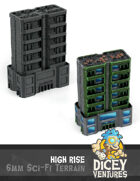 6mm Sci-Fi Terrain: High Rise