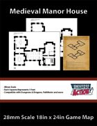 Medieval Manor House Map (Squares = 5 Feet)
