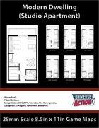Studio Apartment Map (28mm Scale)