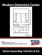 Detention Center Map (Squares = 5 Feet)