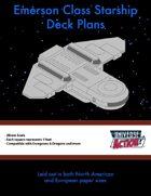 Emerson Class Starship Deck Plans (Squares = 5 Feet)