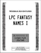 LPC Fantasy Names I