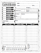 For Coin & Blood Character Sheet: Classic Edition