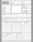 The Hero's Journey 2e: Character Sheet
