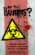 Are You Brains? (zombie themed expansion for Are You Mental?)