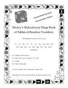 Mickey's Ridiculously Huge Book of Tables of Random Numbers