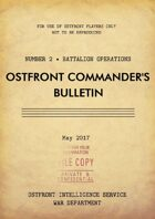 Ostfront Commander's Bulletin - Battalion Operations