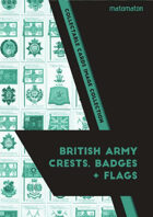 British Army Crests, Badges & Flags Collectable Cards Image Collection
