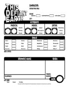 Character Sheet for THIS DEFIANT EARTH: 1950s Sci-Fi Roleplaying