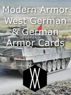 Modern Armor - West German and German Armor Cards