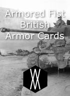 Armored Fist - Armor Cards, United Kingdom and Commonwealth
