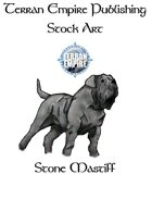 Stock Art - Stone Mastiff