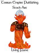Stock Art - Living Flame