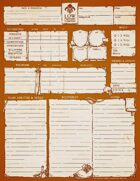 Low Fantasy Gaming Deluxe Edition - Character Sheet