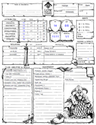 Pregen Characters (Form Fillable, B&W Deluxe sheet)
