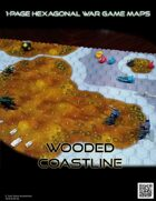 1 Page Hexagonal War Game Maps - Wooded Shoreline