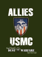 Dust Warfare Cards: Allies - USMC 1947