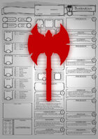 Class Character Sheets - The Barbarian