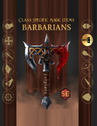 Class Based Magic Items: Barbarian