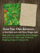 The Forest Dragon Draw Your Own Adventure Blank Card Set
