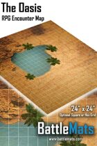 """The Oasis 24\"""" x 24\"""" RPG Encounter Map"""
