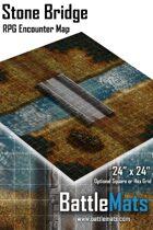 "Stone Bridge 24"" x 24"" RPG Encounter Map"