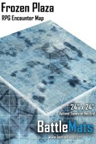"Frozen Plaza 24"" x 24"" RPG Encounter Map"