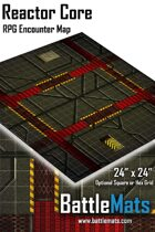 "Reactor Core 24"" x 24"" RPG Encounter Map"