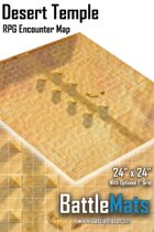 "Desert Temple 24"" x 24"" RPG Encounter Map"