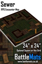 """Sewer 24"""" x 24"""" RPG Encounter Map"""