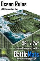 "Ocean Ruins 36"" x 24"" RPG Encounter Map"