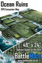 "Ocean Ruins 48"" x 24"" RPG Encounter Map"