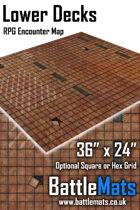 "Lower Decks 36"" x 24"" RPG Encounter Map"