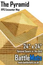 "The Pyramid 24"" x 24"" RPG Encounter Map"