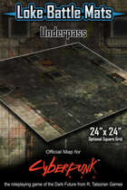 "Underpass 24"" x 24"" RPG Encounter Map"