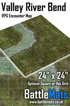 """Valley River Bend 24"""" x 24"""" RPG Encounter Map"""