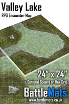 "Valley Lake 24"" x 24"" RPG Encounter Map"