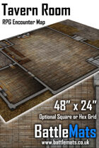 "Tavern Room 48"" x 24"" RPG Encounter Map"