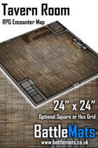 "Tavern Room 24"" x 24"" RPG Encounter Map"