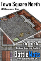 "Town Square North 24"" x 24"" RPG Encounter Map"