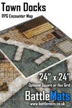 "Town Docks 24"" x 24"" RPG Encounter Map"