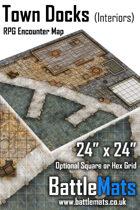"Town Docks Interiors 24"" x 24"" RPG Encounter Map"