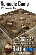 """Nomadic Camp 36"""" x 24"""" RPG Encounter Map"""