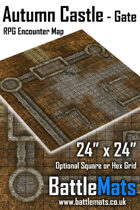 "Autumn Castle Gate 24"" x 24"" RPG Encounter Map"